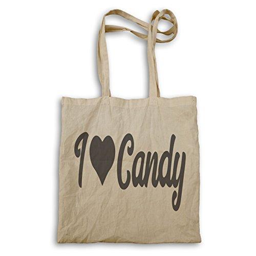 Ich Liebe Süßigkeiten Tragetasche t595r