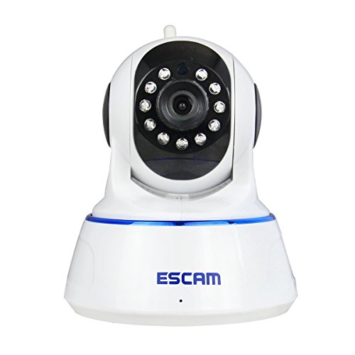 TuoP@ ESCAM QF002 1.0 Megapixel H.264 1/4 720p IP WiFi Wireless Night Vision Camera Security Surveillance Camera