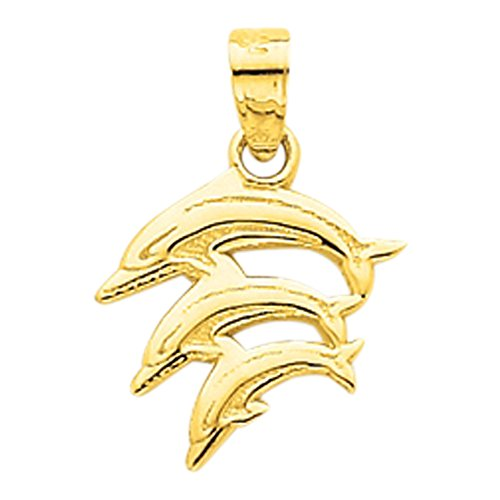 14K Yellow Gold Dolphin Charms
