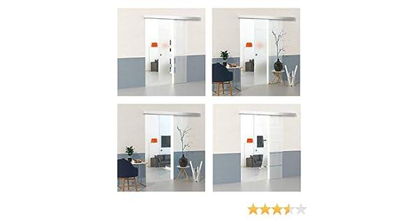DURADOOR – Puerta de Cristal – Puerta corredera puerta corredera de cristal de 5 tiras Diseño con transparente de la superficie de 900 x 2050 mm – Juego completo: Amazon.es: Bricolaje y herramientas