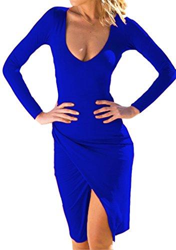 Bodycon Partito Yeesea Blu Club Mini Vestito Abito Abito Donna Il Per Serale Elegante wxCOqaSx