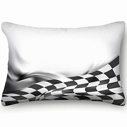 funny dog Pillow Cases Decorative 20x30 inch,Race Flag JPEG Version