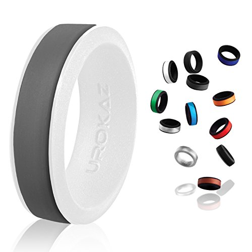 UROKAZ - Silicone Wedding Ring, The Only Ring That Fits Your Lifestyle - Whether You are Single or Married, Ring is Right for You - It is Fashionable, Flexible, and -