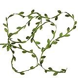 Olive Green Leaves Leaf Trim Ribbon -20 Yards - for