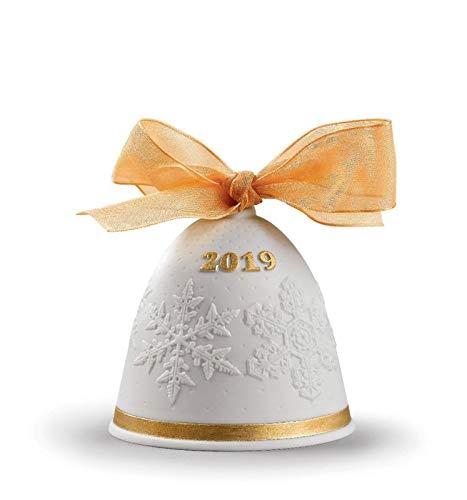 Lladro 2019 Porcelain Golden Luster Christmas Bell #8447