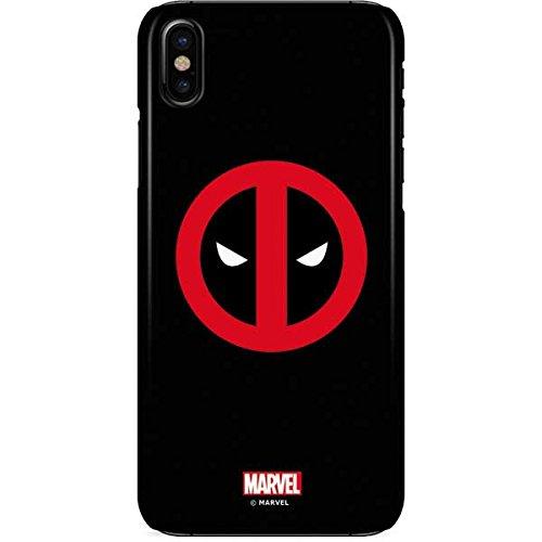 brand new 1c251 809b6 Amazon.com: Deadpool iPhone X Case - Deadpool Logo Black | Marvel X ...