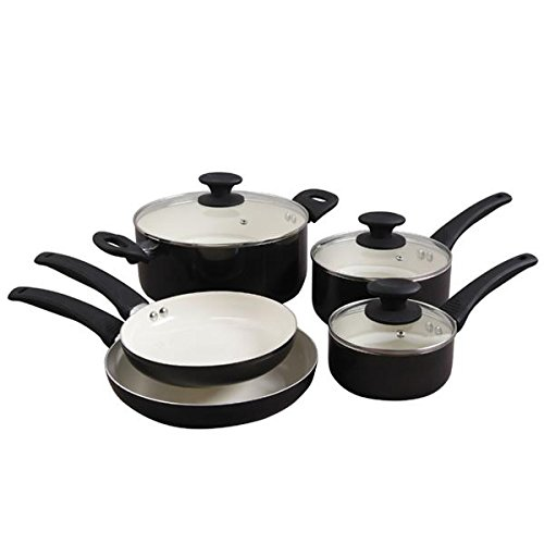 Oster 104368.08 Thorben 8-Piece Cookware Set, Multi-Size, Black (Oster Cookware Set compare prices)