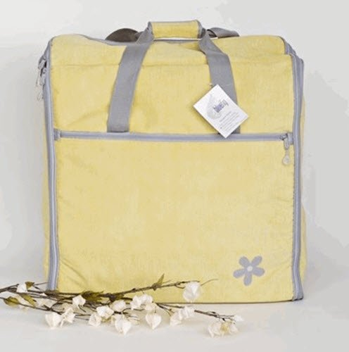 Series Designer Tote (Bluefig Designer Series Embroidery Arm Bag DSEM23 -Yellow Daisy)