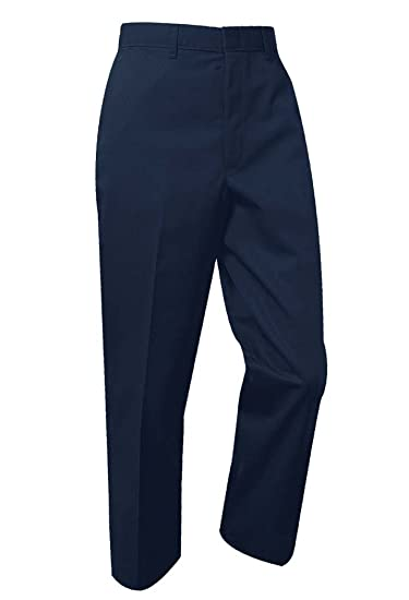 Amazon Com A Boys Husky School Uniform Flat Front Pants Beauty