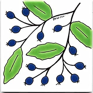 product image for FRUITS-VEGETBLES-TRIVETS-WALL PLAQUES-BLUEBERRY TILE