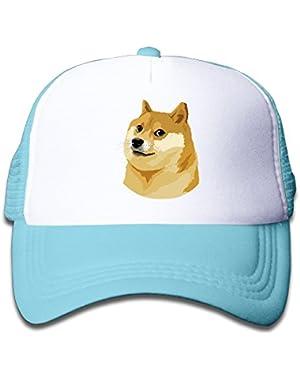 Kid's Funny Doge Face Meme Shiba Inu Snapback Cap Hat