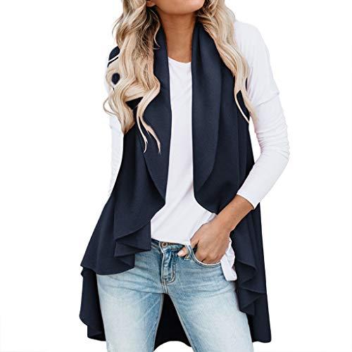 - HYIRI Women's Wild Irregular Cardigan Top Jacket Blue