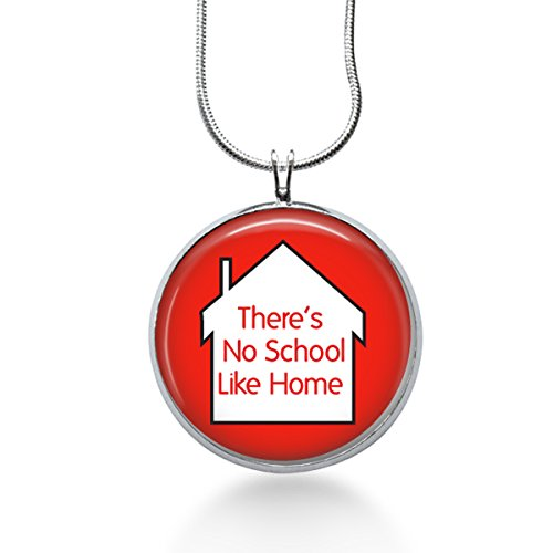 Homeschooled Necklace, Pendant, Education, Gifts for Women, Mom
