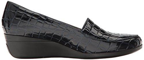 Aerosoles Womens True Match Slip-On Loafer Blue Crocodile lj4mSZPr
