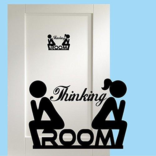 Thinking Room WC Aufkleber Türaufkleber Toiletten Wandtattoo