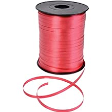 GIFTEXPRESS 500 Yards Red Curling Ribbon/Balloon Ribbon/Balloon Strings/Gift Wrapping Ribbons/Holiday Gift Supplies