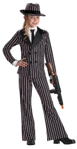 California Costumes Gangster Girl Costume, (Gangster Costume For Girls)