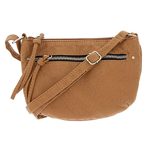 Bag Small Crossbody Claire's Brown Claire's Girl's Tan Leather Girl's Faux wx0x4gF