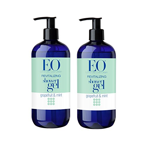 EO Revitalizing Shower Gel with Blend of Essential Oils of Grapefruit, Orange and Peppermint, 16 fl. oz. Pack of 2