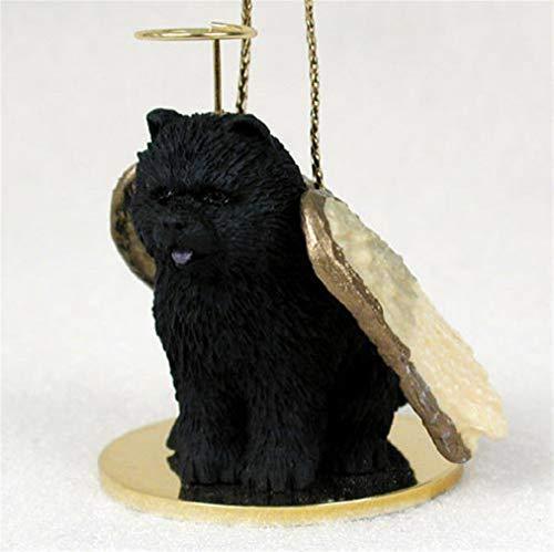 Ky & Co YesKela Chow Chow Ornament Angel Figurine Hand Painted Black