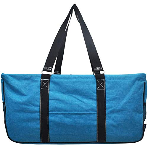 NGIL All Purpose Open Top 23″ Classic Extra Large Utility Tote Bag 2019 Collection (Crosshatch Turquoise)