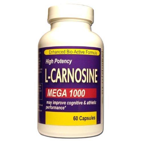 100% Pure Mega Strength L Carnosine - Supplément De 1000 Mg Pour Les Activités Sportives