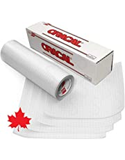 """Oracal Transfer Tape Paper Roll for Vinyl (12"""" x 20Ft)- Adhesive Application Tape Works Great with Oracal 651, 631 and Cricut Vinyl - Bonus Maple Leaf Permanent Decal"""