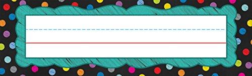 Carson Dellosa Colorful Chalkboard Nameplates (122035)