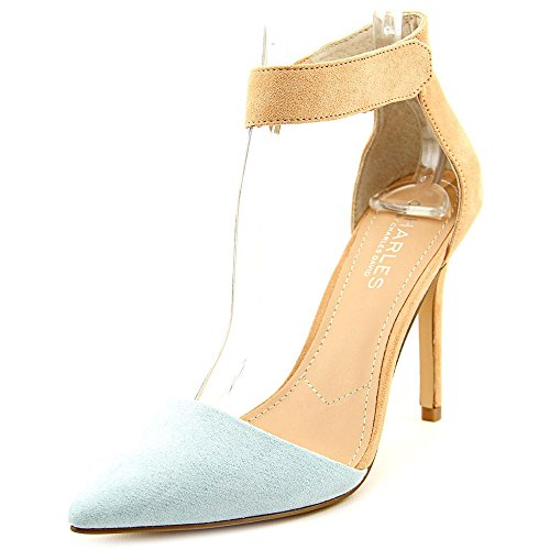 Charles by Charles David Women's Pointer Dress Pump, Carolina Blue/Nude, 9.5 M US