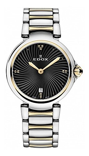 Edox-Womens-57002-357RM-NIR-LaPassion-Analog-Display-Swiss-Quartz-Two-Tone-Watch