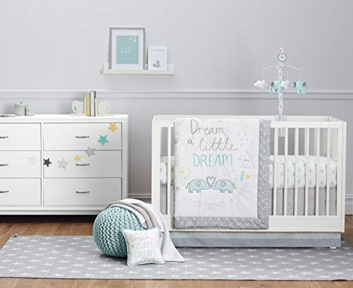 Just Born Dream a Little Dream Collection 5-Piece Bedding Set, Mint, One Size