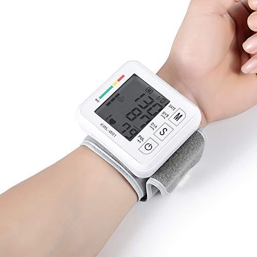 JERKEY Home Automatic Intelligent Wrist Type Electronic Blood Pressure Monitor Voice Blood Pressure Meter Blood Pressure Meter with LCD Display Advance Blood Pressure Monitor