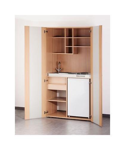 Schrankküche ikea  MEBASA MK0009S Büro-Küche Schrankküche Buche 100 cm mit ...