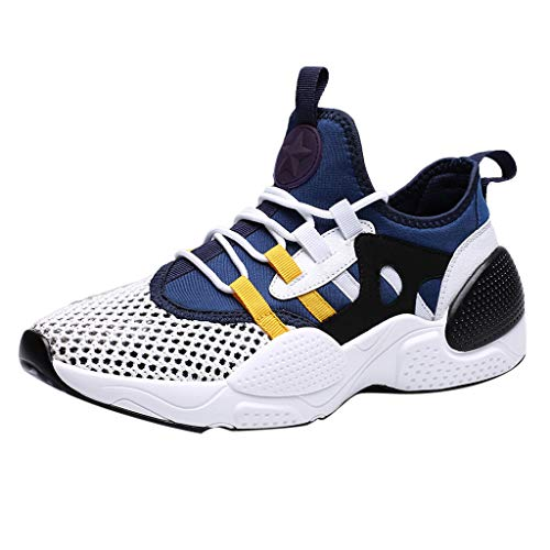 Men's Lightweight Athletic Running Shoes Breathable Sport Air Fitness Gym Jogging Sneakers Air Cushion Sneaker& LYN Star☪