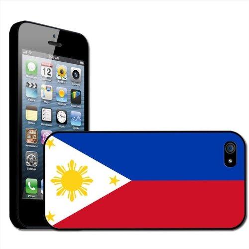 philippines Flag Coque arrière rigide pour Apple iPhone modèles, plastique, iPhone 5/5s