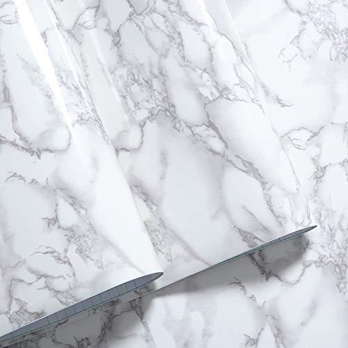 Contact Paper - Marble Contact Paper Countertops - Waterproof Granite Gray Decorative, -