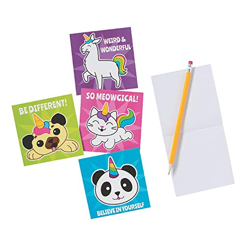 Fun Express - Anicorn Notepads - Adorable Item for Boys and Girls of All Ages - Perfect for Parties and All Occasions