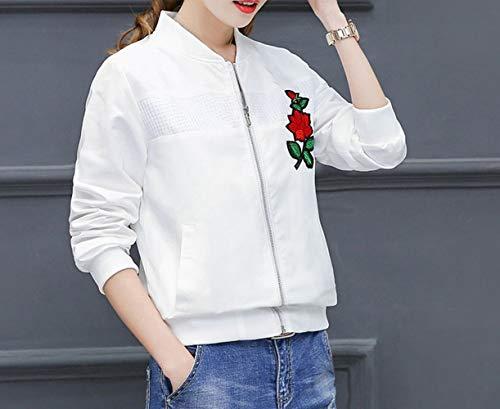 donna donna donna Semplice da bianca Camicia donna donna collo da HYW ricamata casual giacca rosa POLO C4dfIq4w