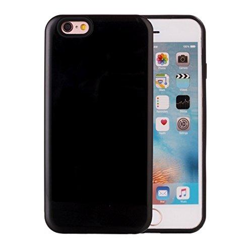 Protege tu iPhone, Para el iPhone 6 y la caja protectora trasera de la contraportada de la combinación de 6s TPU + PU Para el teléfono celular de Iphone. ( Color : Rojo ) Negro