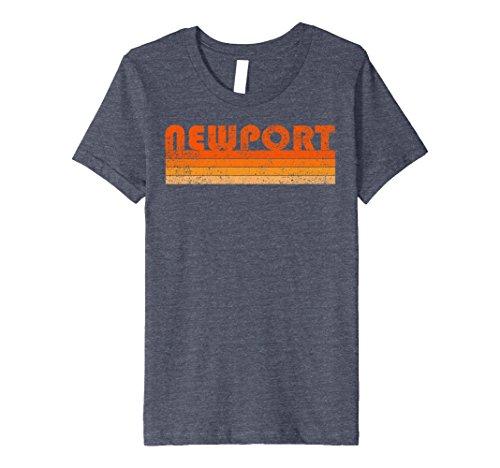 Kids Vintage Retro Newport RI Premium T Shirt 10 Heather - Newport For Kids Ri