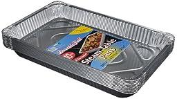 Durable Foil Aluminum Steam Table Pans, Full-Size, Medium, 20-3/4\