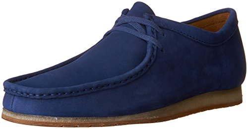 Clarks Mens Wallabee Step Mocassini Scarpe Notte Blu Nabuk