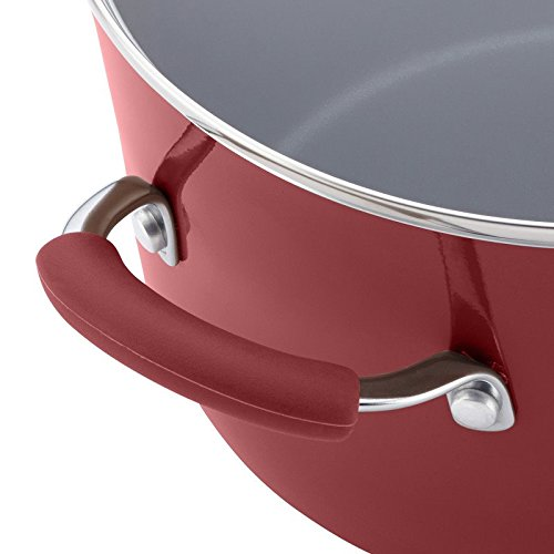 Pemberly Row Pasta Pot in Cranberry Red by Pemberly Row (Image #6)