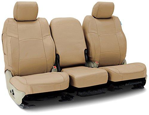 Coverking Rear 60/40 Split Bench Custom Fit Seat Cover for Select Toyota FJ Cruiser Models - Genuine Leather (Beige)