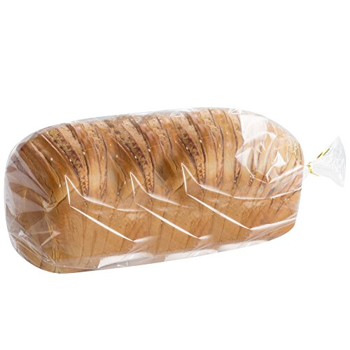 200 count Benail Bread Loaf Bags With Free Twist Ties (200 Pack) (Cable Poly Bag)