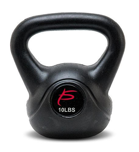 ProSource Vinyl Kettlebell Weights for Full Body Workouts, 10 to 35 pounds