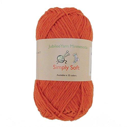 (Light Weight Simply Soft Yarn 100g - 2 Skeins - 50% Cotton 50% Polyestser - Burnt Orange - Color)