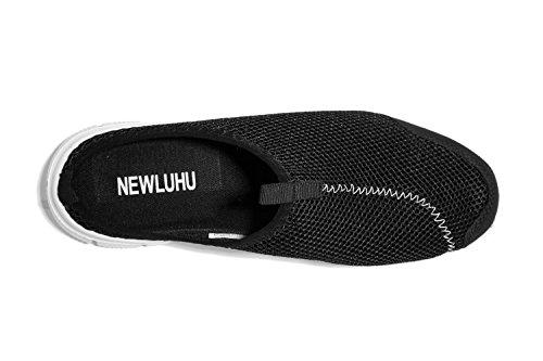 NEWLUHU - Zapatillas de estar por casa de Material Sintético para hombre negro