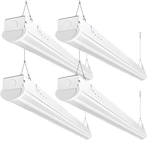 Bbounder 8FT LED Shop Light, 72W, 8400 Lumen, 5000K Daylight, 8 Foot LED Linear Fixtures for Garage, Workshop, Warehouse, 0-10V Dimmable, ETL Certified, 4 Pack
