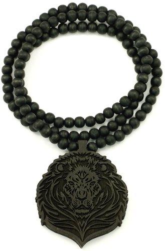 Good Wood Goodwood Black Natural Wood Pendant Replica Necklace ()